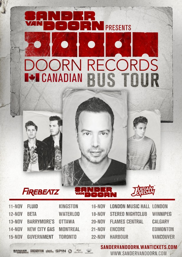 DOORN RECORDS BUS TOUR POSTER