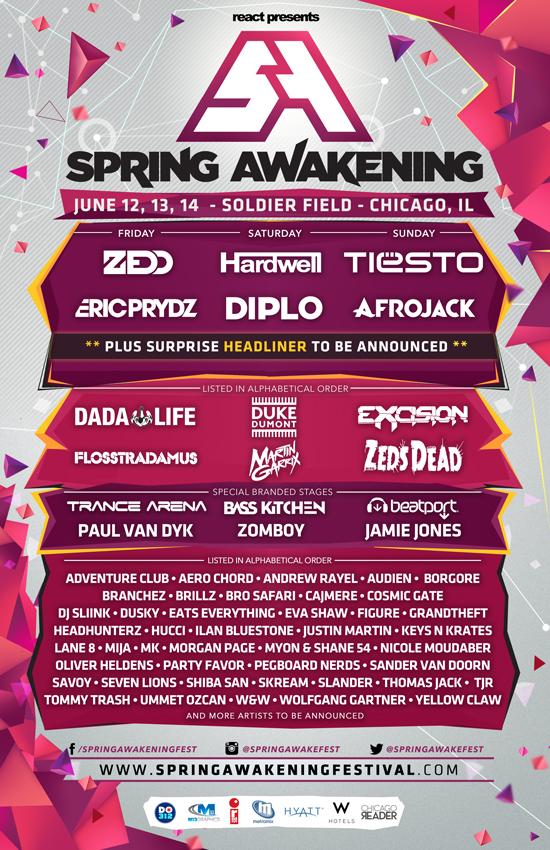 spring awakening lineup 2015