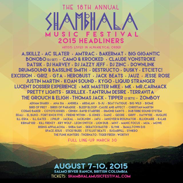 shambhala2015 lineup